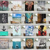 Poliéster impermeável Tecido Vários Padrão 12 Hooks Banho Shower Curtain G
