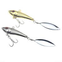 Rompin 10pcs Vib Spoon Leurre 15g 20g Leurres de Pêche En Métal Paillettes Spinner vibration dur Appâts de pêche sous glace