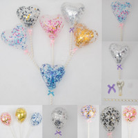 Multicolor Latex Sequins Filled Clear Balloons with paperbar...