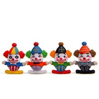 Lovely Clown Figure Dolls Collection Decor Expression Model 2.5*3.2cm Mini Kids Toy Birthday Gift
