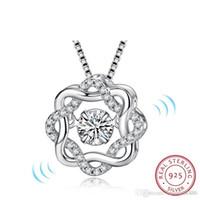 Мода классический поворот танцы CZ камень стерлингового серебра 925 кулон для женщин мода ювелирные изделия подарок для любви Два цвета