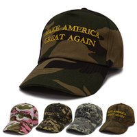 Camouflage Trump Baseball Cap Embroidery KEEP AMERICA GREAT ...
