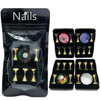 Affichage magnétique étagère cristal acrylique Présentoir Nail Art Faux Conseils pratiques de formation Titulaire manucure Salon outil
