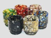 Nuovo vaporizzatore in cristallo di diamante colorato 810 vaporizzatore con punta a goccia in resina con foro largo in resina LOGO personalizzato