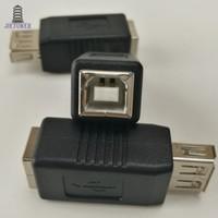 500 шт. / Лот Горячие продажи портативный USB 2.0 Тип A к USB Тип B Женский Разъем Расширить Конвертер Адаптера Принтера