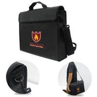 3 Sizes Fireproof pouch Money valuable Document safe bag Fir...