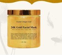 Grystal 콜라겐 골드 여자의 얼굴 페이스 마스크 24K 골드 콜라겐 필 오프 페이셜 마스크 얼굴 피부 보습 퍼밍.