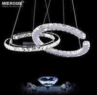 LED de diamante moderna luminária de Fixação AC LED 90-260V candelabro de cristal Luz Lustres Lâmpada de suspensão para um jantar Quarto transporte rápido