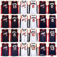 1996 الولايات المتحدة كرة السلة جيرسي دريم ثلاثة 4 تشارلز باركلي 5 هيل 10 ميلر 6 بيني هاداواي 8 سكوت بيبن 15 حكيم أولاجوون الأمريكية