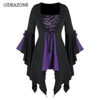 Uideazone lentejuelas patchwork vintage gótico vendaje mujer vestido irregular gótico vampiro bruja vestidos medieval renacimiento cosplay