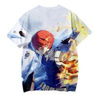 Erkek T-Shirt Ceket Frdun 2021 Benim Kahraman Akademi Sezon 4 Anime 3D Baskı Çocuk Giyim Erkek / Kız Çocuklar Kısa Kollu T Gömlek Giysileri