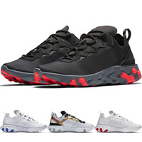 New React Element 55 Undercover Herren Laufschuhe Für Damen Designer Sport Sneakers Trainer Sommer Komfortable Cool Black White Schuhe