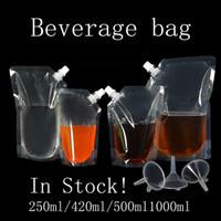 Pantalla de embalaje de plástico de pie bolsa de embalaje Bolsa de caño para bebidas Libérico Límite Leche Bolsas de almacenamiento de café Envío gratis