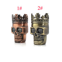 Zinc Alloy Smoke Grinding Machine 3 Parts Skull Herb Grinder...