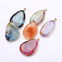 D027 Natural Gemstone Pendant Necklace Stone Power Crystal S...
