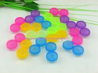 500sets Lenti a contatto colorate Box contenitore porta contenitori Imbibiscono il kit per la cura degli occhi di stoccaggio