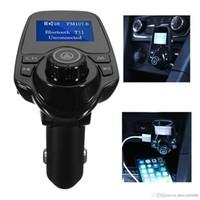 Neue T11 Bluetooth Car Kit Freisprecheinrichtung FM Transmitter MP3 Musik Player Dual USB Car Charger Unterstützung TF Karte U Disk Player