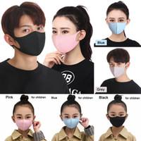 Buz İpek toz geçirmez Ağız Yıkanabilir Yeniden kullanılabilir Yüz Yetişkin Çocuk Rahat Karşıtı Kirliliği Shield Rüzgar Geçirmez Ağız Kapak LJJO7753 Maskesi