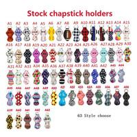 63 Style Neoprene Chapstick Halter Keychain Mädchen Chapstick Lippenstift Schlüsselanhänger zum Verkauf Geschenk-Bevorzugungen Valentines Geschenk Durable LX0315