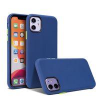 Para el iphone 12pro Caso Dos de color de 2 mm de espesor de teléfonos Fundas delgado de la manera muchacha del estilo protector para el iPhone 11 x 6 7 Contraportada