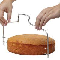 الجملة مطبخ DIY الخبز اكسسوارات خط مزدوج القطاعة كعكة الرئيسية DIY كعكة فرد قطع الخط قابل للتعديل الكعك القطاعة DH0894 T03