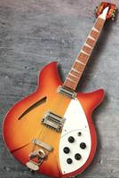 Fuego personalizado Glo Cherry Sunburst 330 12 cuerdas Guitarra eléctrica Cuerpo semi hueco, diapasón de laca brillante, dos salidas, sintonizadores vintage
