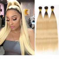 Beyo 1B 613 Honey Blond Ombre Bundles Peruvian Straight Hair...