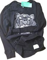 Suéter de la cabeza del tigre Paris Puentes con capucha bordada con capucha de algodón de algodón Terry Sudadera de manga larga con letras Tops originales KZ 27 colores S-XXL