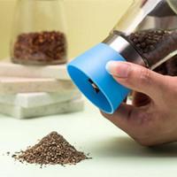 Pimenta Moagem Garrafas moinho triturador de vidro moedor de pimenta Shaker Spice sal condimento Jar Titular Ferramentas da cozinha IIA163