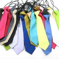 Baby School Elastic Neckties 26 Colors Fashion Boy Wedding Solid Colors Neck Ties Child School Party Tie Fashion Accessories Gifts C1546
