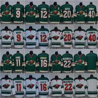 New Minnesota Wild 11 Zach Parise 9 Mikko Koivu 12 Eric Staal 16 Jason Zucker 20 Ryan Suter 36 ماتس Zuccarello 40 Devan Dubnyk Hockey Jersey