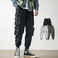 Hip Hop Tasarımcı Erkekler için Gevşek Pantolon Ins Stil erkek Gelgit Marka Rahat Pantolon Birçok Cepler ile Harlan Tarzı Pantolon Tulum Boyutu M-4XL