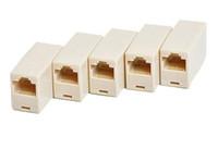 RJ45 كابل الشبكة موسع التوصيل الهاتف النجار المقرنة موصل CAT5E CAT6 إيثرنت لان مكرر تمديد محول محول 8P8C 4P4c