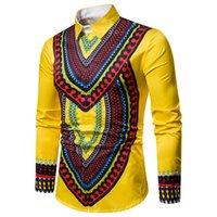 Erkek Tasarımcı Elbise Gömlek Bahar Çiçek Baskılı Standı Yaka Moda Gömlek Uzun Kollu Tops