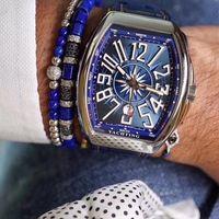 44MMX54MM MEN'S ساعة اليد يخوت الرجال ساعة الماس الفولاذ المقاوم للصدأ الطليعة V45.SC.DT.AC.BL أفضل جودة 2824 ساعة اليد التلقائي