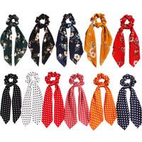 15 unids / lote Leopard Snake Floral Dot Streamers Scrunchies Mujeres Bufanda para el pelo Elástico Lazo Cinta para el cabello Cinta Cinta Accesorios para el cabello para niñas