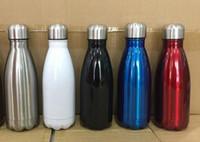 350 ml Cola Garrafa De Água Em Forma Isolada Dupla Parede Vacuum high-luminance Garrafa De Água Criativa Garrafa térmica Vacuum Isole 17oz