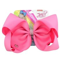 drop shipping 8 Inch Pure Color Hair Bow with Alligator Clip...