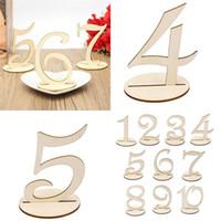 10PCS / 설정 패션 나무 웨딩 파티 용품 ~ 10 / 11-20 플레이스 홀더 테이블 수 그림 카드 디지털 좌석 장식