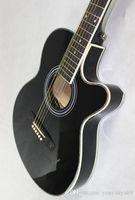 Corda d'acciaio suono di chitarra elettrica Canzone Folk Pop Art Belle corpo Flat Top 40 pollici chitarra 6 corde Profilo Nero Optoelectronics, Fornire Custo