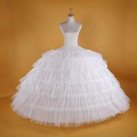 Súper vestido de bola hinchada de Big White Enaguas enagua Slip Para adultos de la boda vestido formal grande 6 aros largo crinolina estrenar