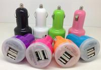 스마트 폰 2 포트 (1A)에 대한 어댑터 차량용 휴대폰 충전기를 충전 저렴한 미니 USB 차 충전기 듀얼 USB
