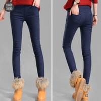 Xxxl Herbst-Frauen-Hosen Samtverdickung Leggings Hosen Multi Size Winterfrau Warm Hose Drop Drop Shipping