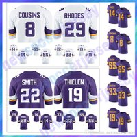 bc5083e0f 2019 Custom Minnesota Vikings Jerseys 82 Kyle Rudolph 97 Everson ...