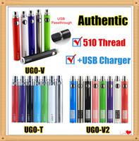 MOQ 2 stücke Authentic Ugo V 510 Vape Batterie EVOD Ego T 650 900 1100 MAH Vaporizer Stift mit Micro USB-Ladegerät Fit-Kartuschen