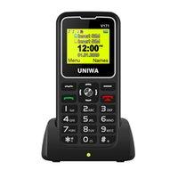 شاشة OEM UNIWA V171 أفقي الهاتف سهلة الاستخدام SOS كبار موبايل للشهادات كبار السن مرت