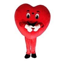 2019 Hot new red heart love mascot costume LOVE heart mascot costume spedizione gratuita