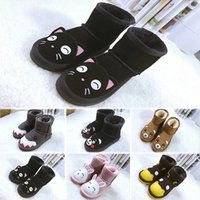 Girls Australia Style WGG Kids Snow Boots Cute Bow Back Wate...