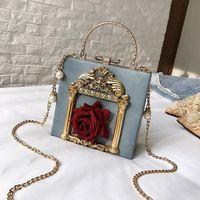 Heißer Verkauf-Lhlysgs Marke Kette Tasche Gir Handtaschen Duffle Handtasche Frauen Taschen Luxus Trendy Rosa für mit einzelnen Schulter span Design IMDMX