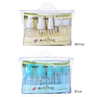 5 pçs / set Portátil Vazio Plasic Garrafas Recarregável Kit de Viagem Maquiagem Frascos de loção Spray Cosmético Garrafa de Tubo Mini Garrafa de Perfume
